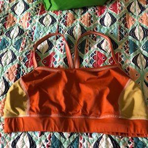 🌼Land's End Orange Bikini Top